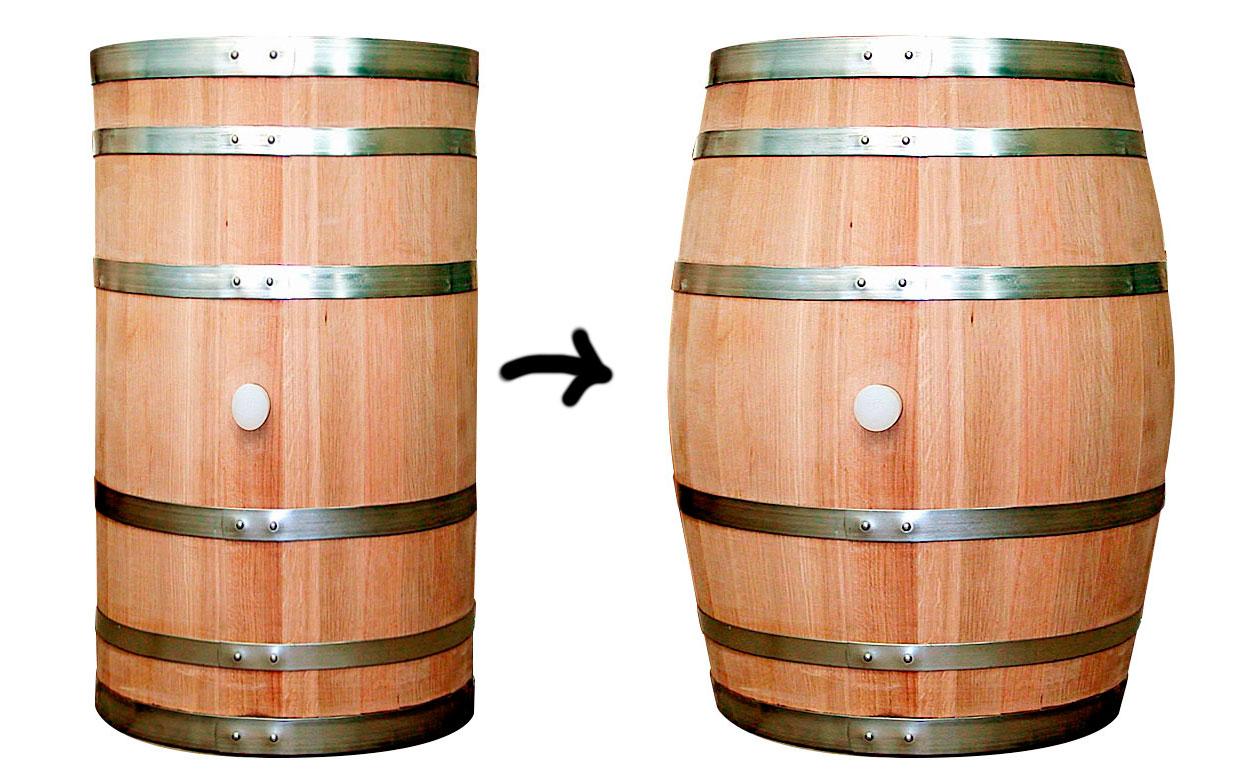 wine barrel distorted