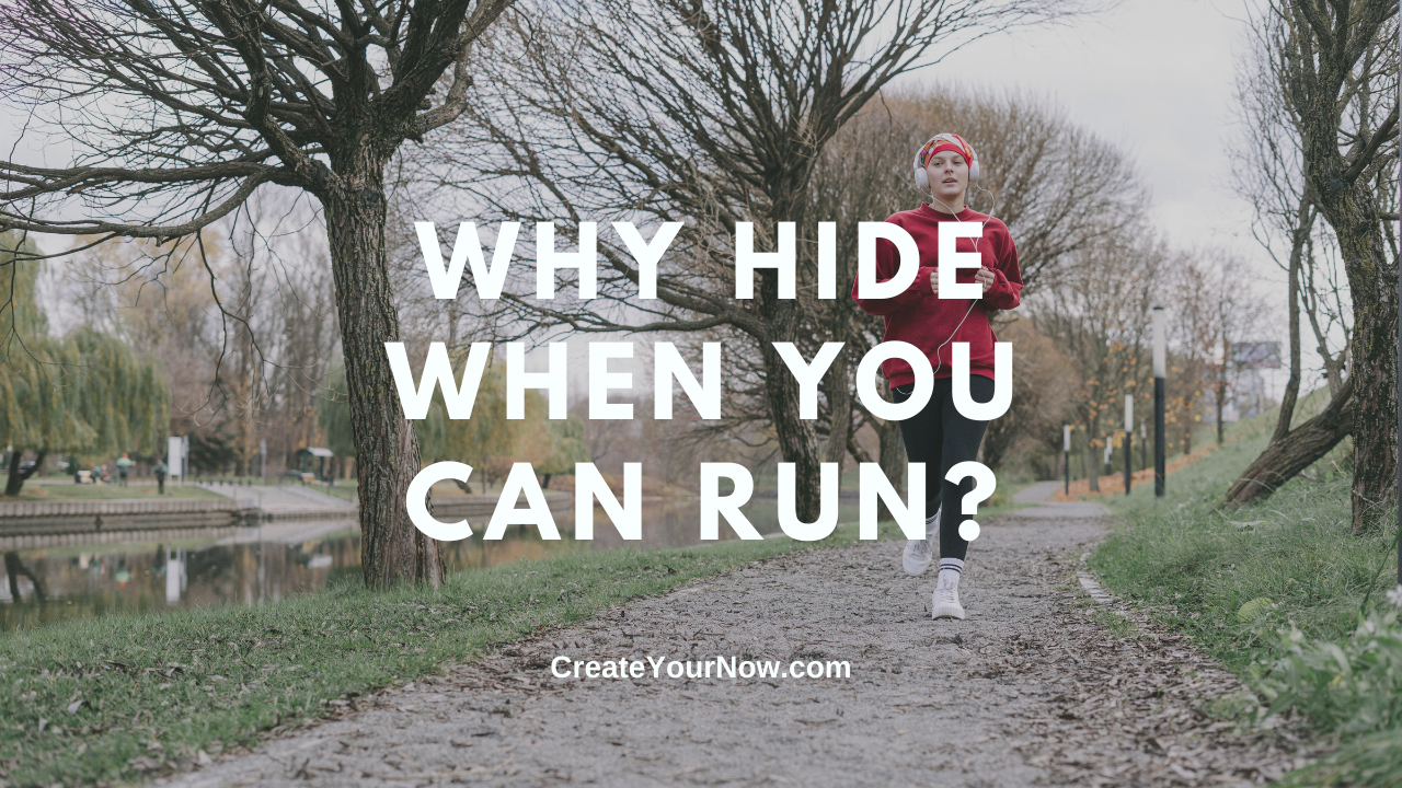 2439 Why Hide When You Can Run? show art