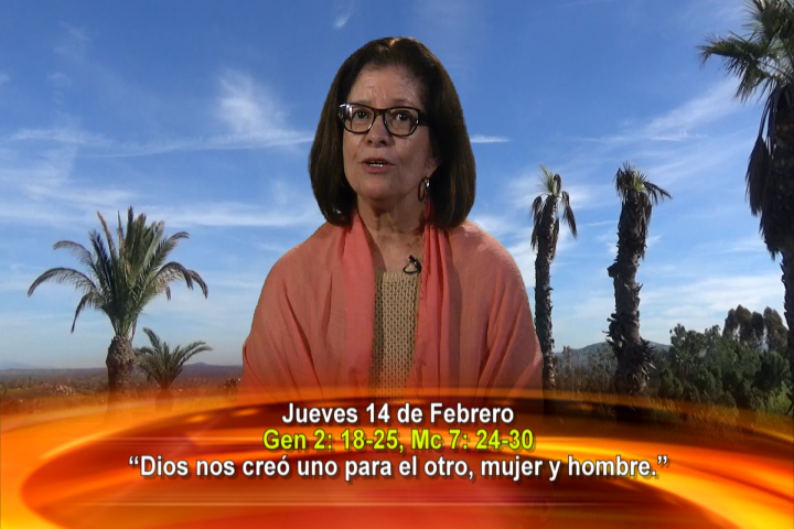 """Artwork for Dios te Habla con Maria Eva Hernandez; """"Dios nos creó uno para el otro, mujer y hombre."""""""