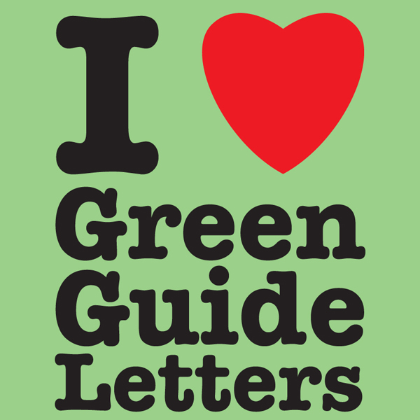 I Love Green Guide Letters show art
