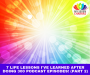 Artwork for 7 Life Lessons I've Learned After Doing 300 Podcast Episodes! (Pt 2)