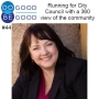 Artwork for #44 Running for City Council with a 360 view of the community