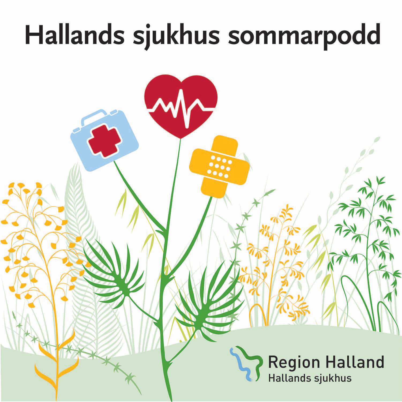 Hallands sjukhus sommarpodd logo