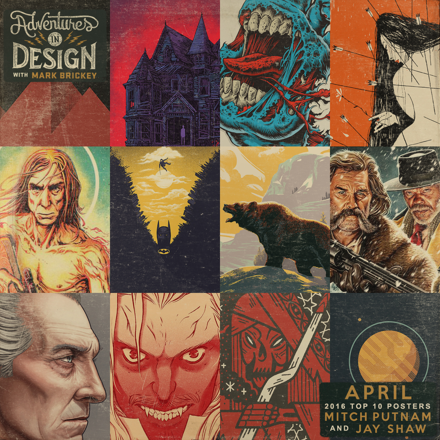 Episode 382 - April Poster Countdown with Mitch Putnam and Special Guest Jay Shaw