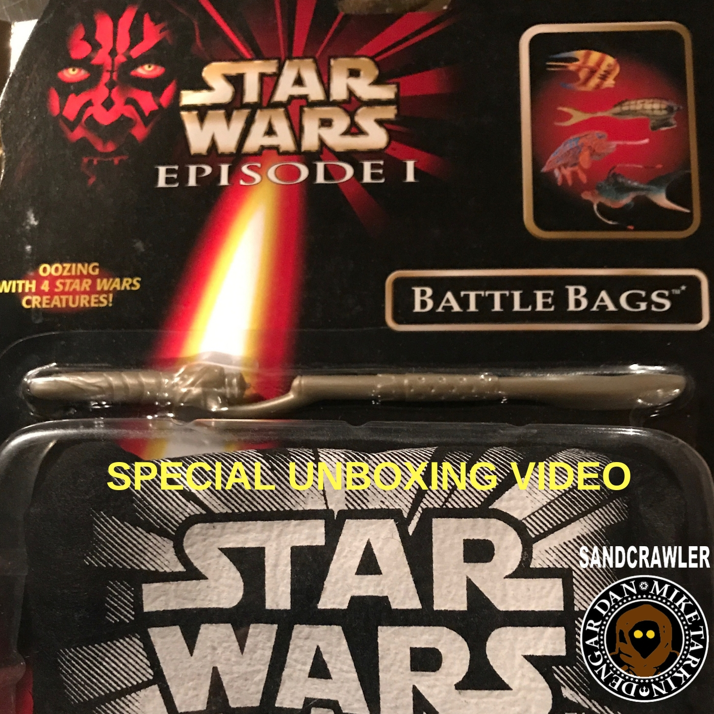 Artwork for The Sandcrawler: The Phantom Menace Battle Bags Video Unboxing
