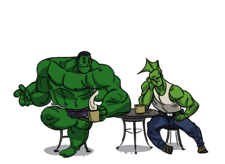 Back in Toons-Incredible Hulk & Savage Dragon
