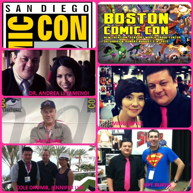 Episode 488 - SDCC w/ Dr. Andrea Letamendi/Sam Park (Monsterverse)/Cole Drumb, Jennifer Luk (PostHuman) & Boston Comic Con w/ Ming Doyle (Mara), Jeff Burns (Super Knocked Up)
