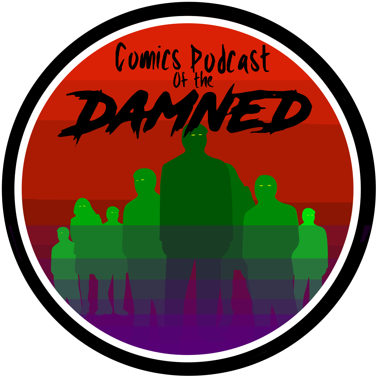 Comics Podcast Of The Damned! logo