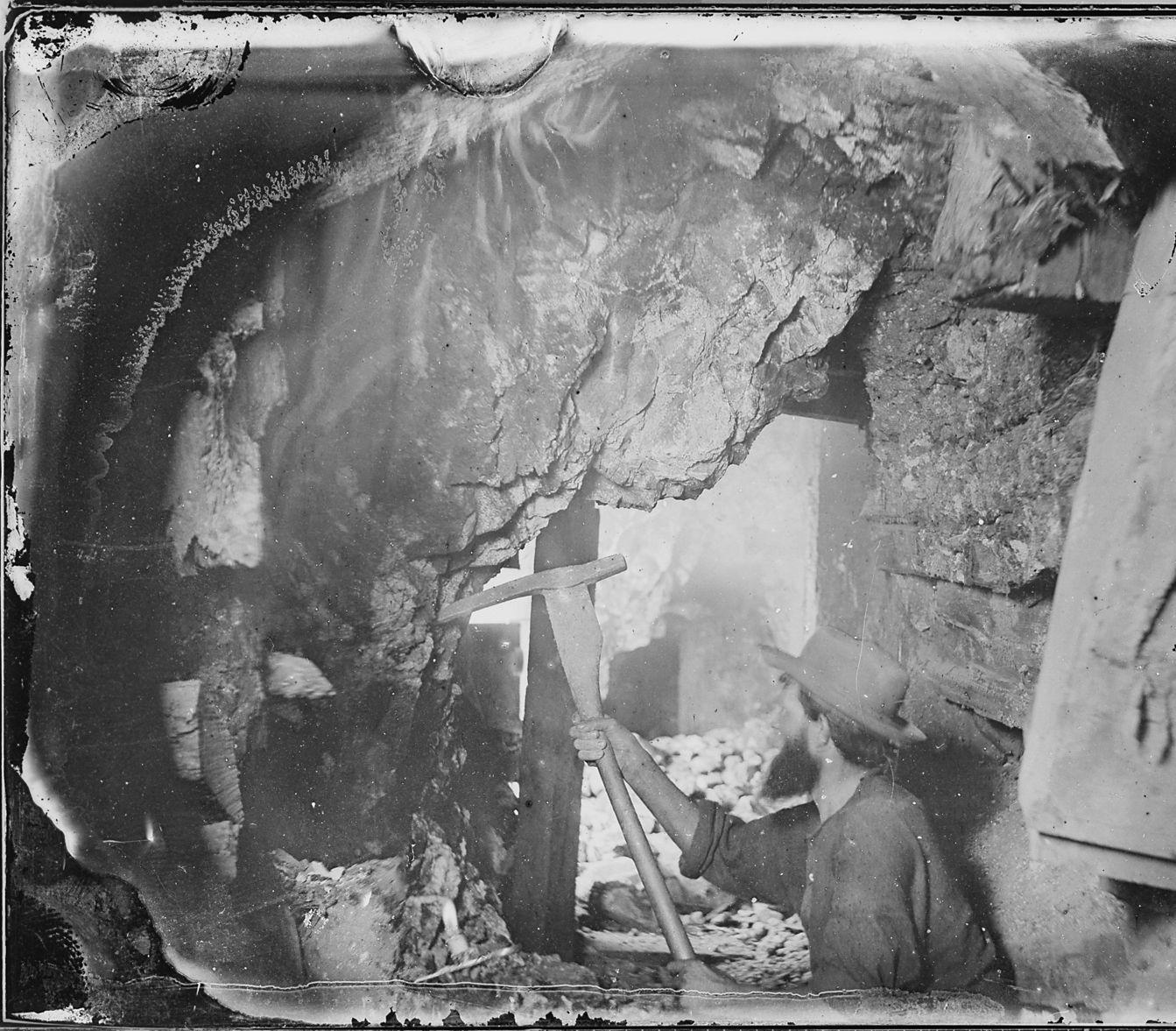 Miners at Work Underground Virginia City, Nevada