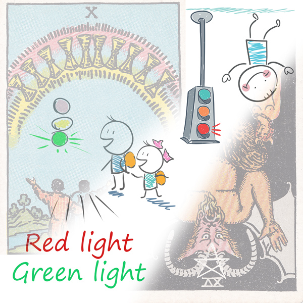 Red light / Green light: Tarot reversals made easy