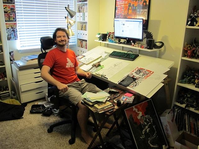 Matt Frank in his studio