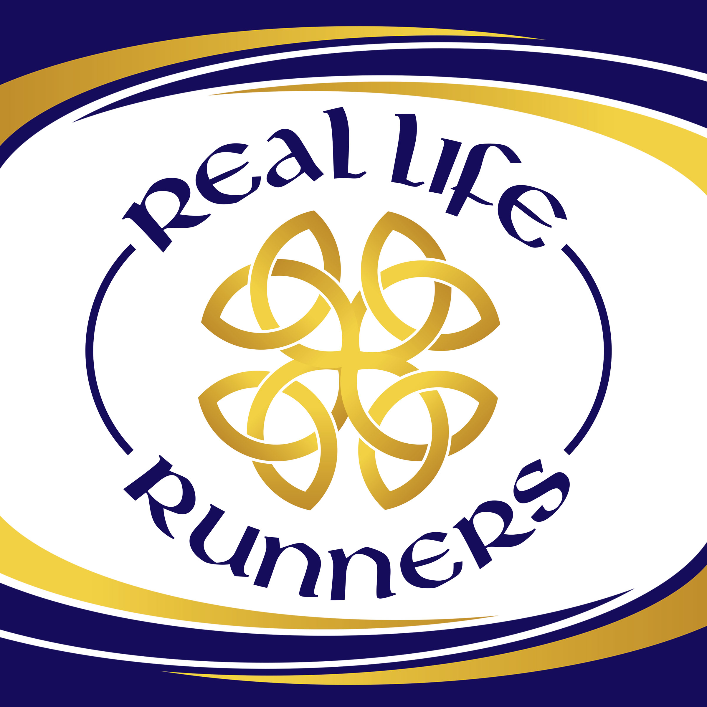 Real Life Runners with Angie and Kevin Brown show art