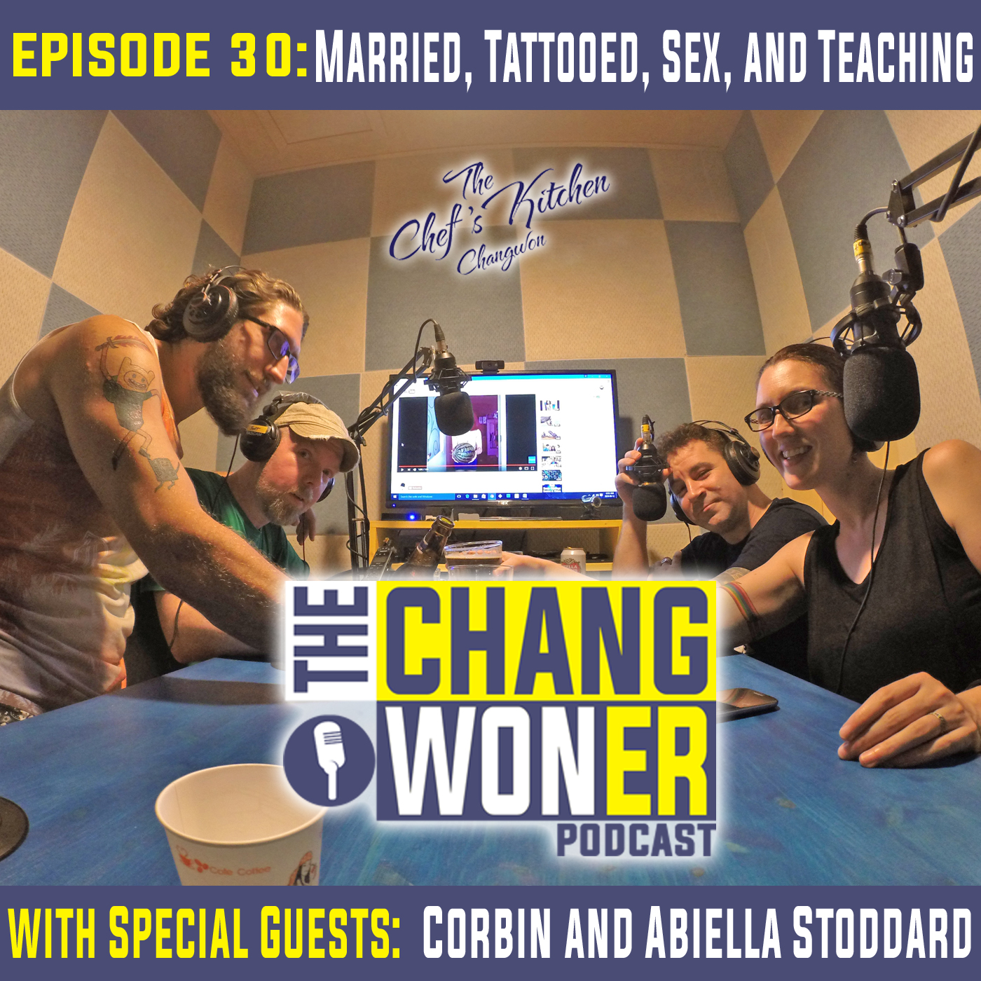 Artwork for Tattoos, Sex, and Teaching in South Korea. -guests Corbin and Abiella Stoddard (Ep 30)