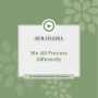 Artwork for WE ALL PROCESS DIFFERENTLY