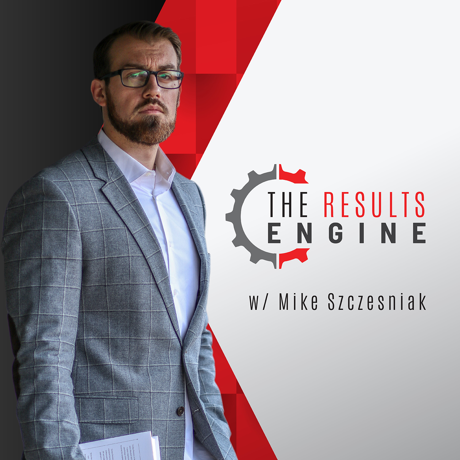 The Results Engine Podcast show art