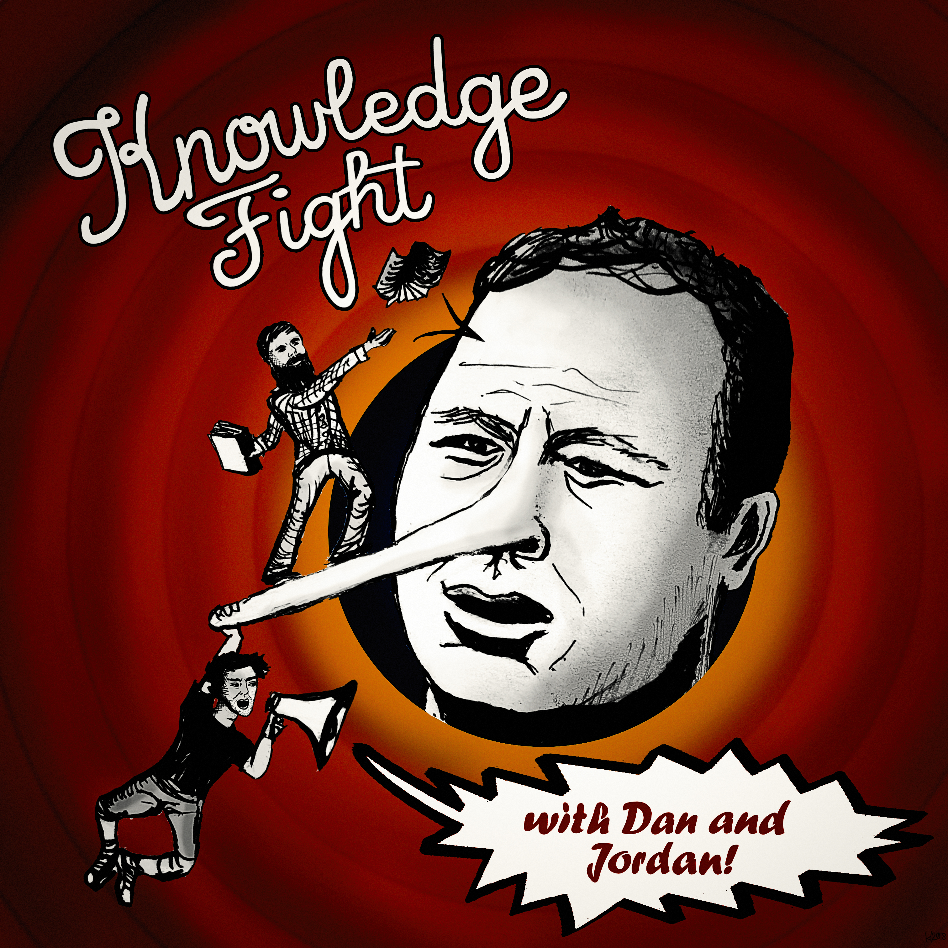 Knowledge Fight show art