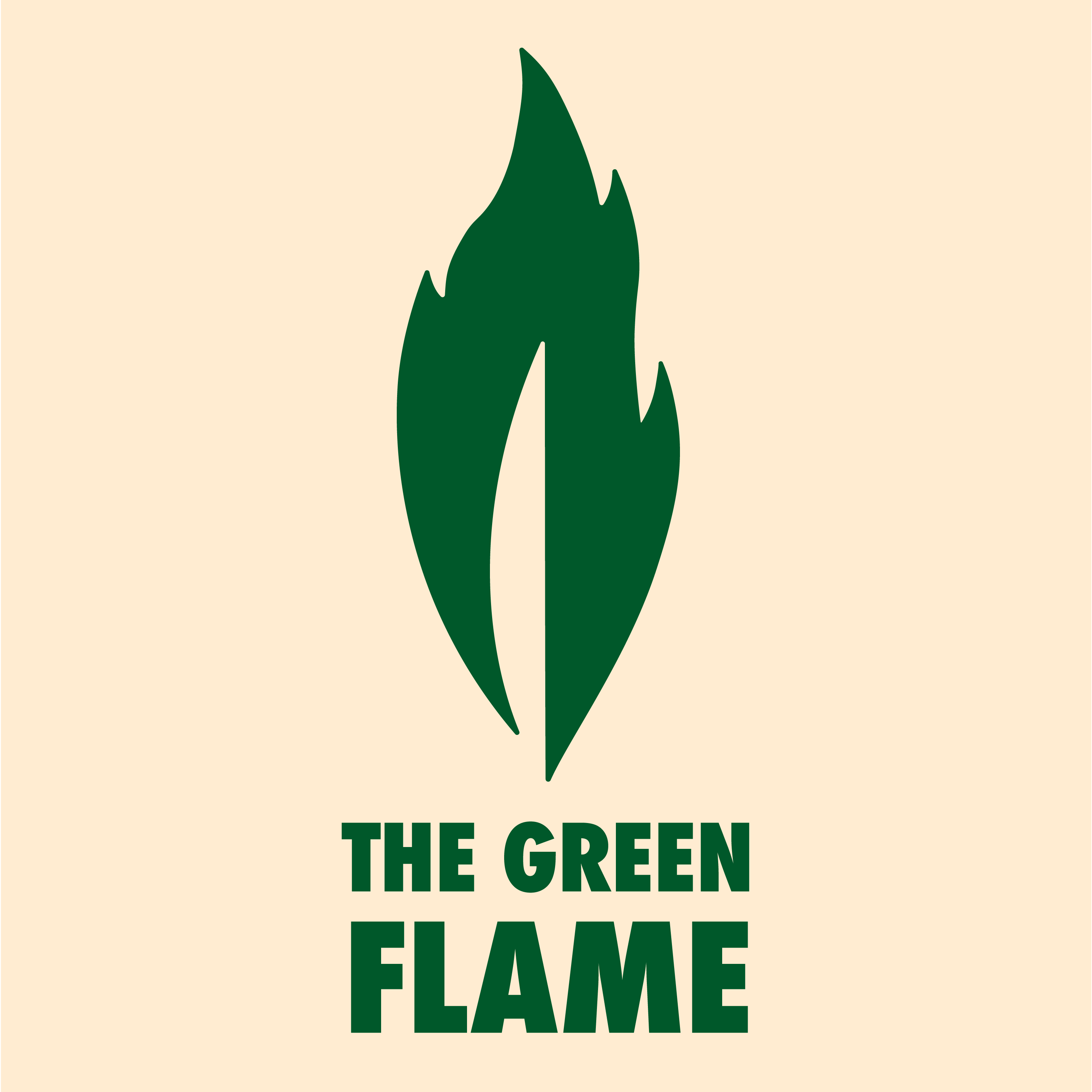 The Green Flame show art
