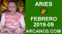 Artwork for HOROSCOPO ARIES-Semana 2019-09-Del 24 de febrero al 2 de marzo de 2019-ARCANOS.COM...