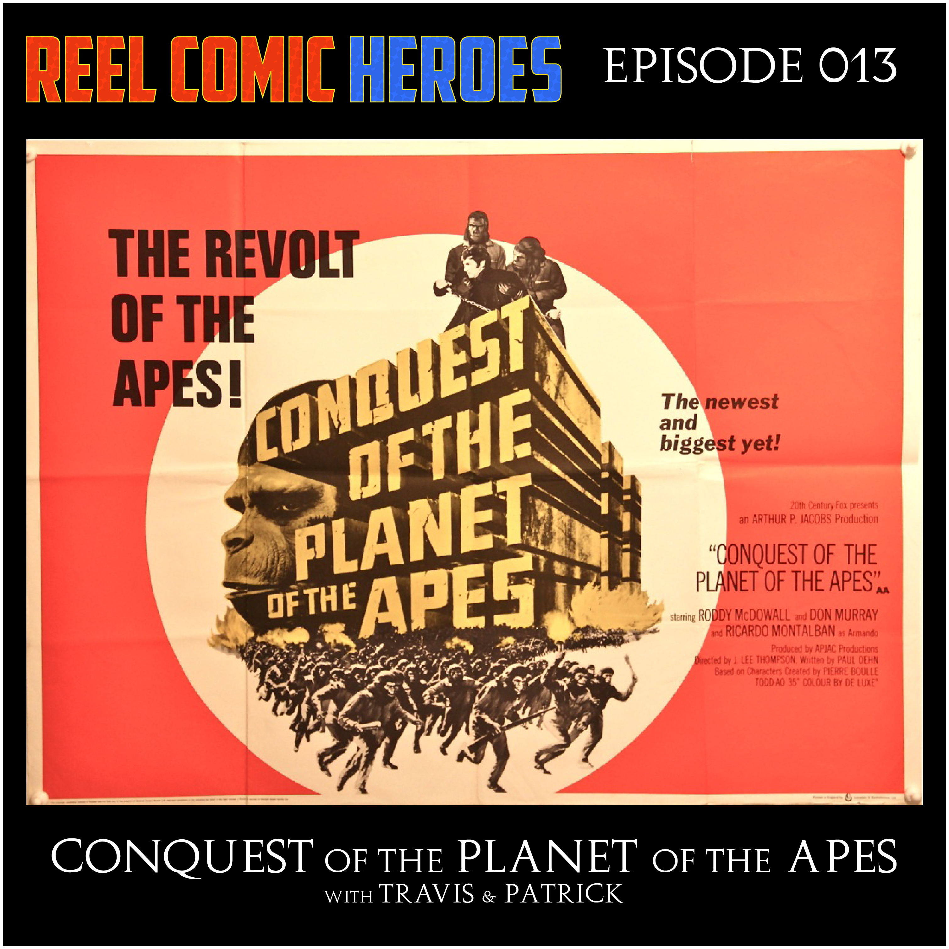 Artwork for Reel Comic Heroes 013 - Conquest of the Planet of the Apes