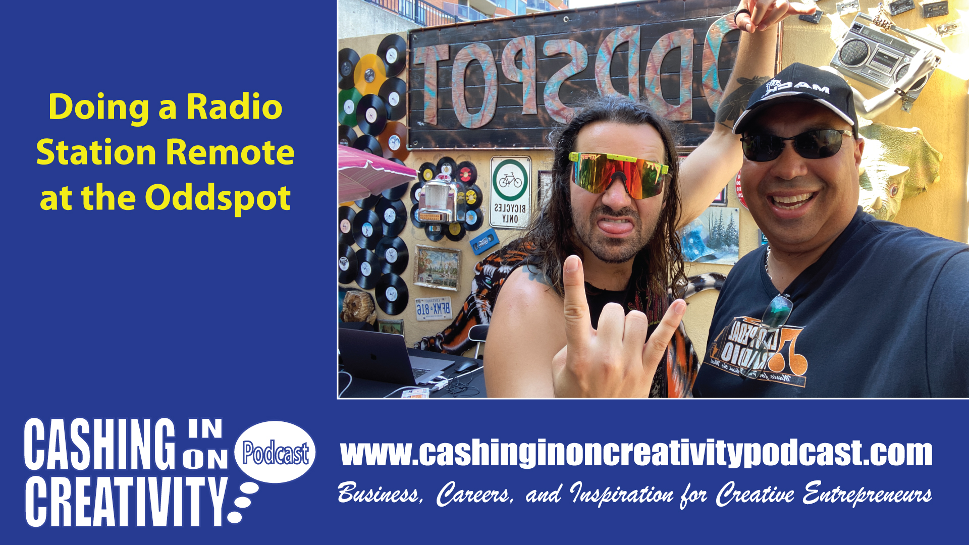 CC266 Radio Remote and Musician Interview at the Oddspot