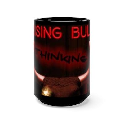 No Thinking Allowed - Black Mug 15oz
