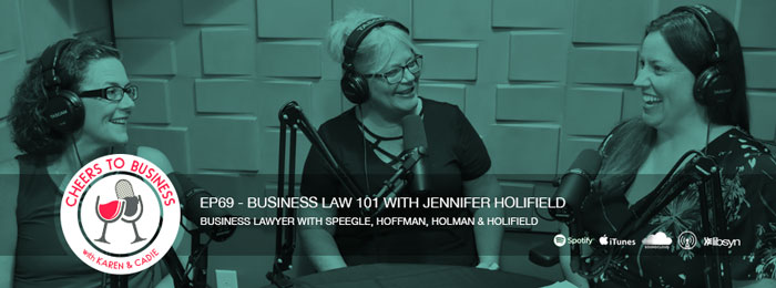 Jennifer Holifield on Cheers To Business podcast