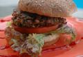 Mushroom and Black Eye Pea Burger