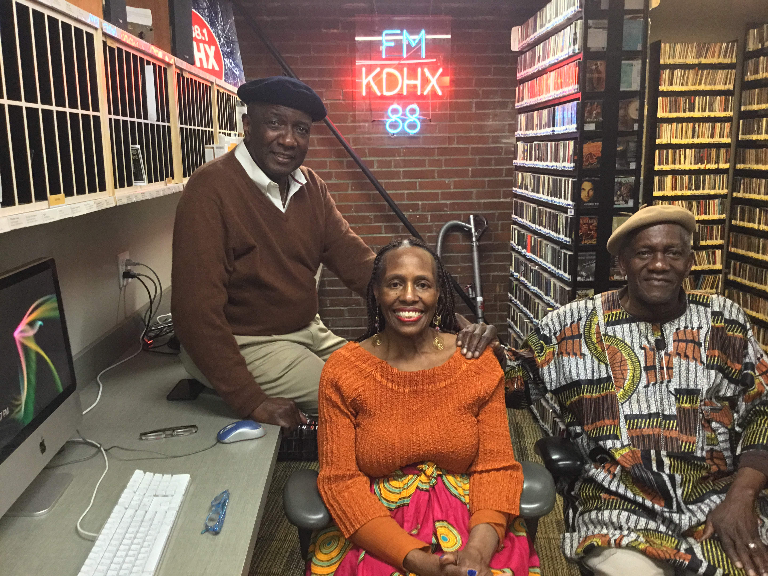 Hank Thompson with Hattie Jackson and Ronald Jackson