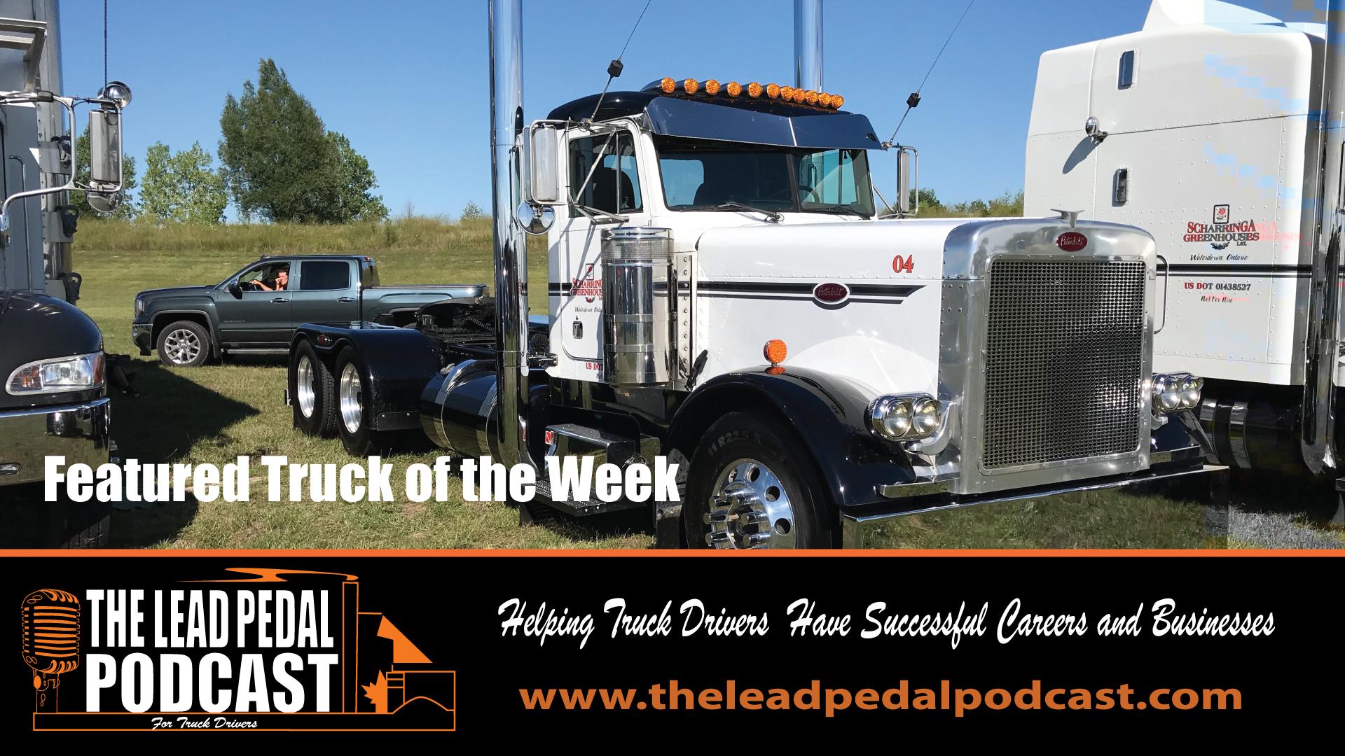 Featured Truck-White Peterbilt