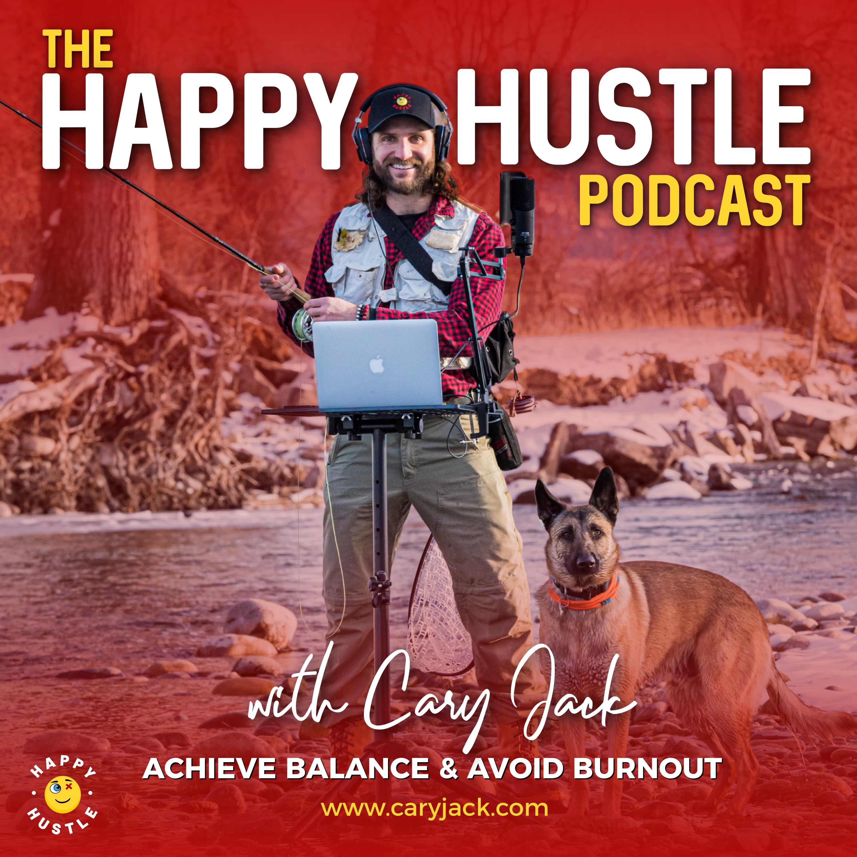 The Happy Hustle Podcast show art