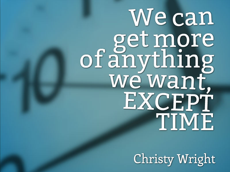 """A Simple Secret for Time Management"" with Christy Wright"