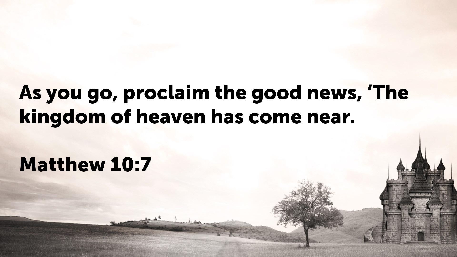 Matthew 10.7