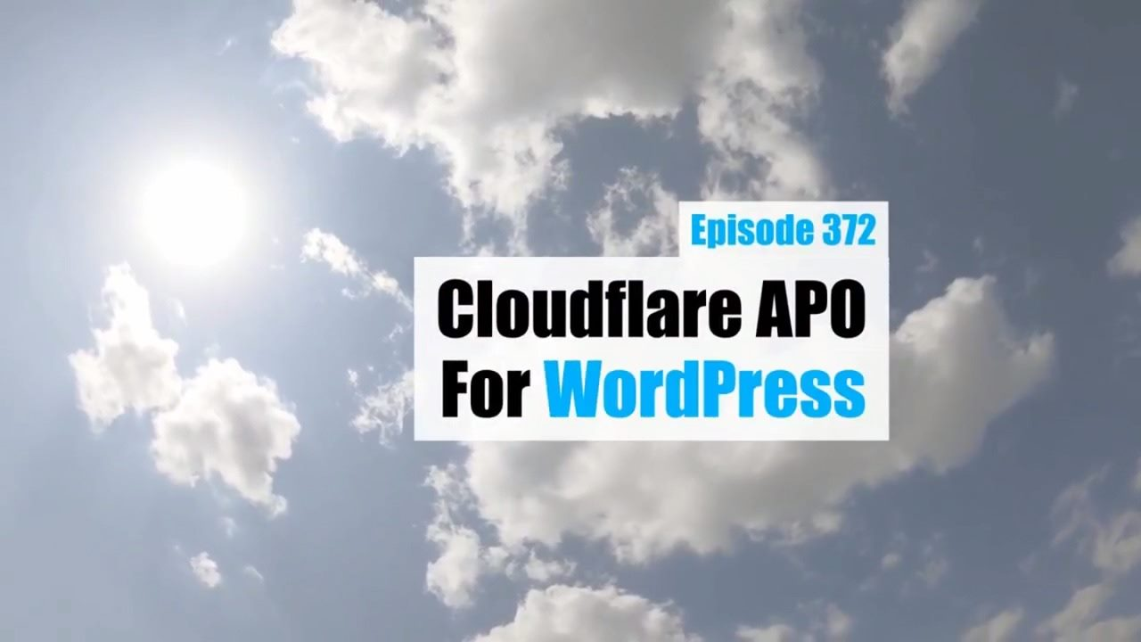 Cloudflare APO for WordPress