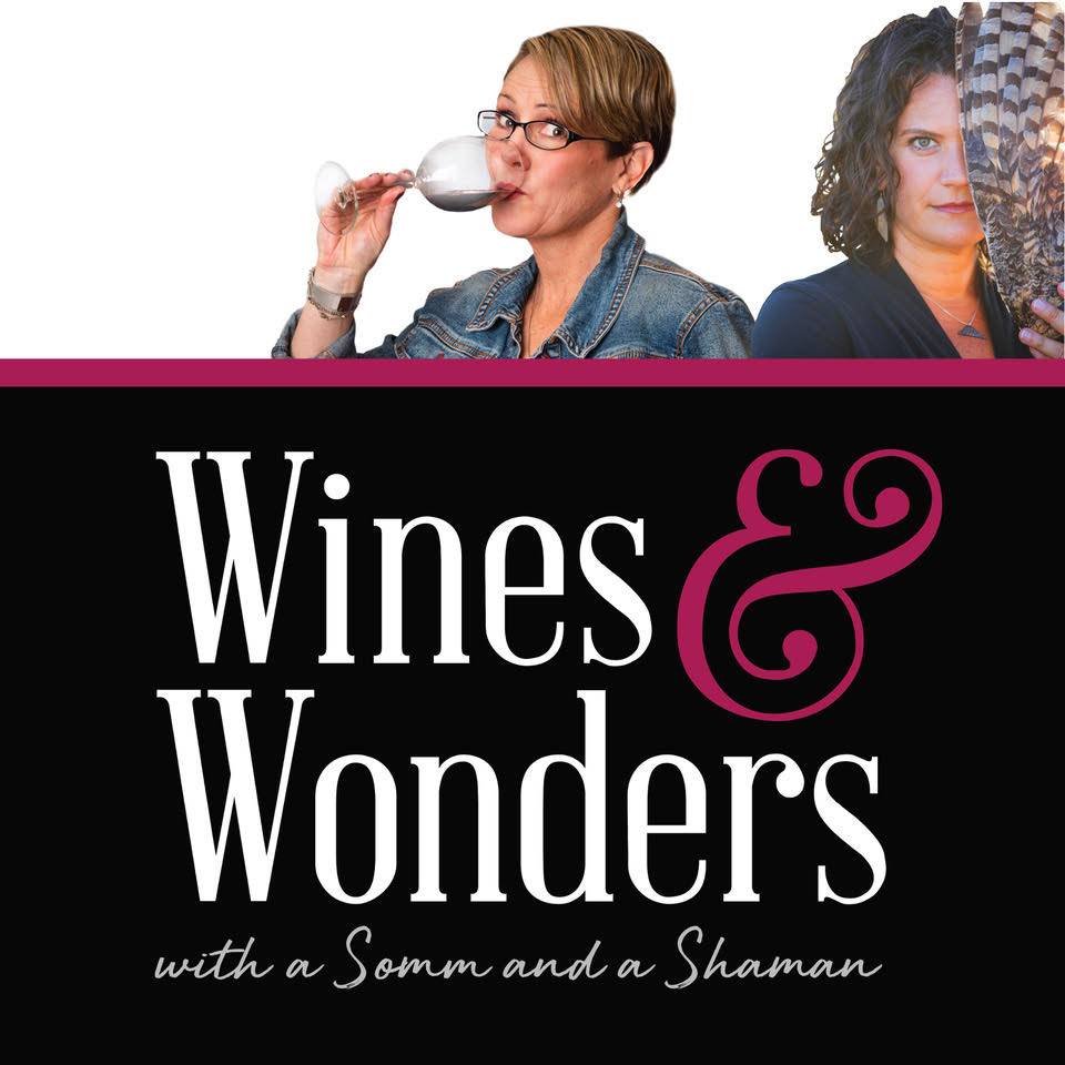 Wines & Wonders podcast show art