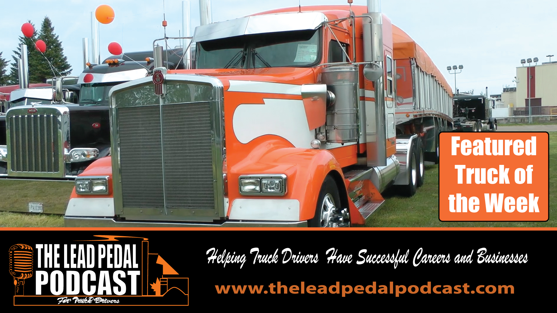 Featured truck-Orange Kenworth