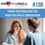 Artwork for #130 Conversations in English (things you should not say) esl