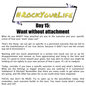 DAY 15 #RockYourLife!