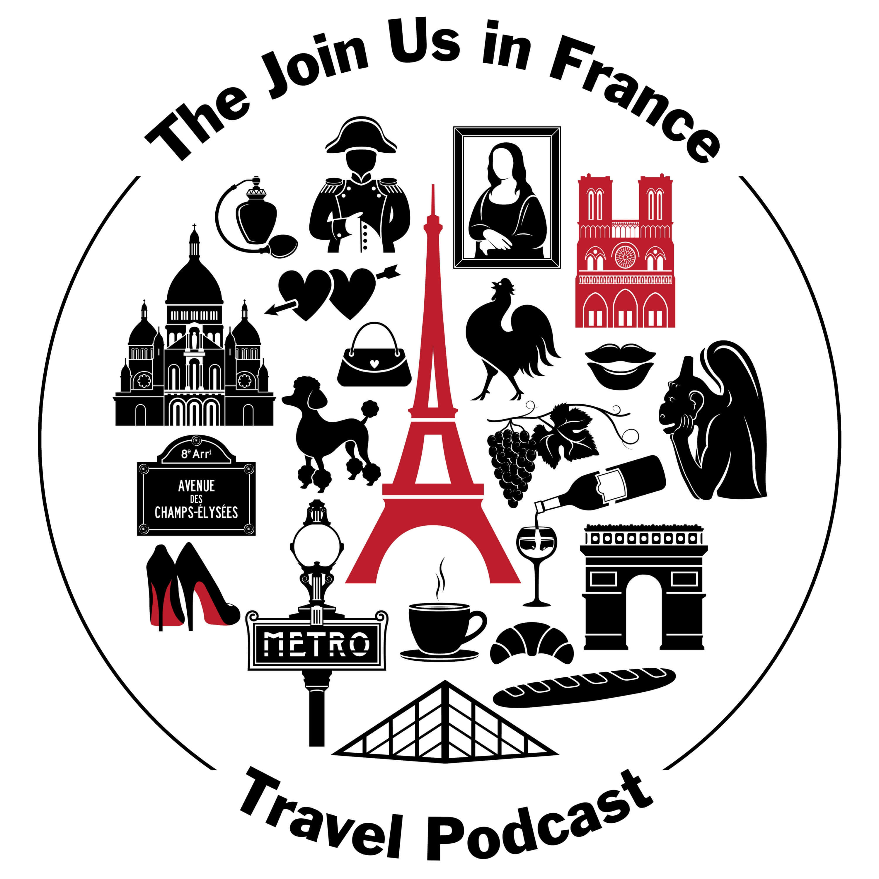 Join Us in France Travel Podcast show art