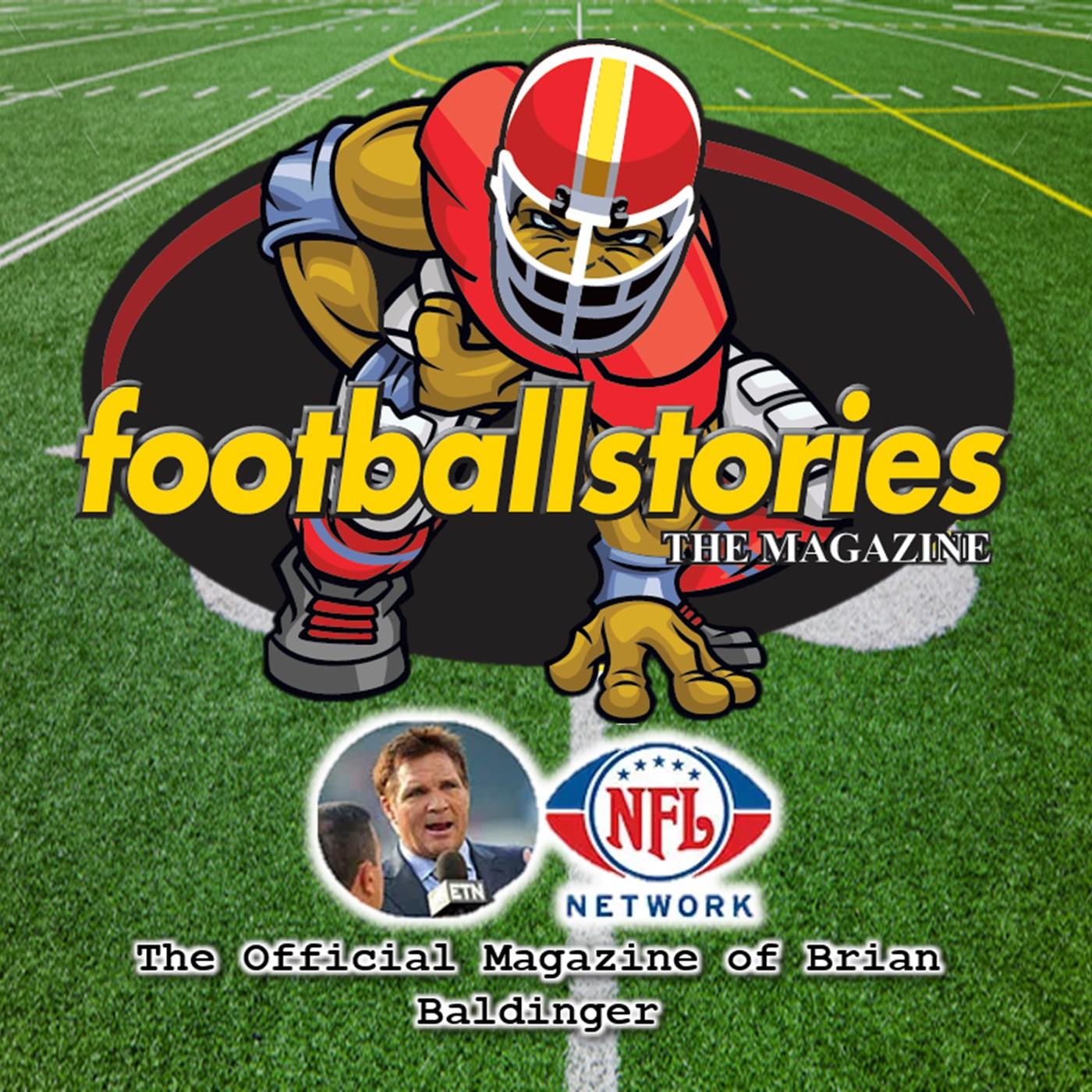 Footballstories with Brian Baldingers show art