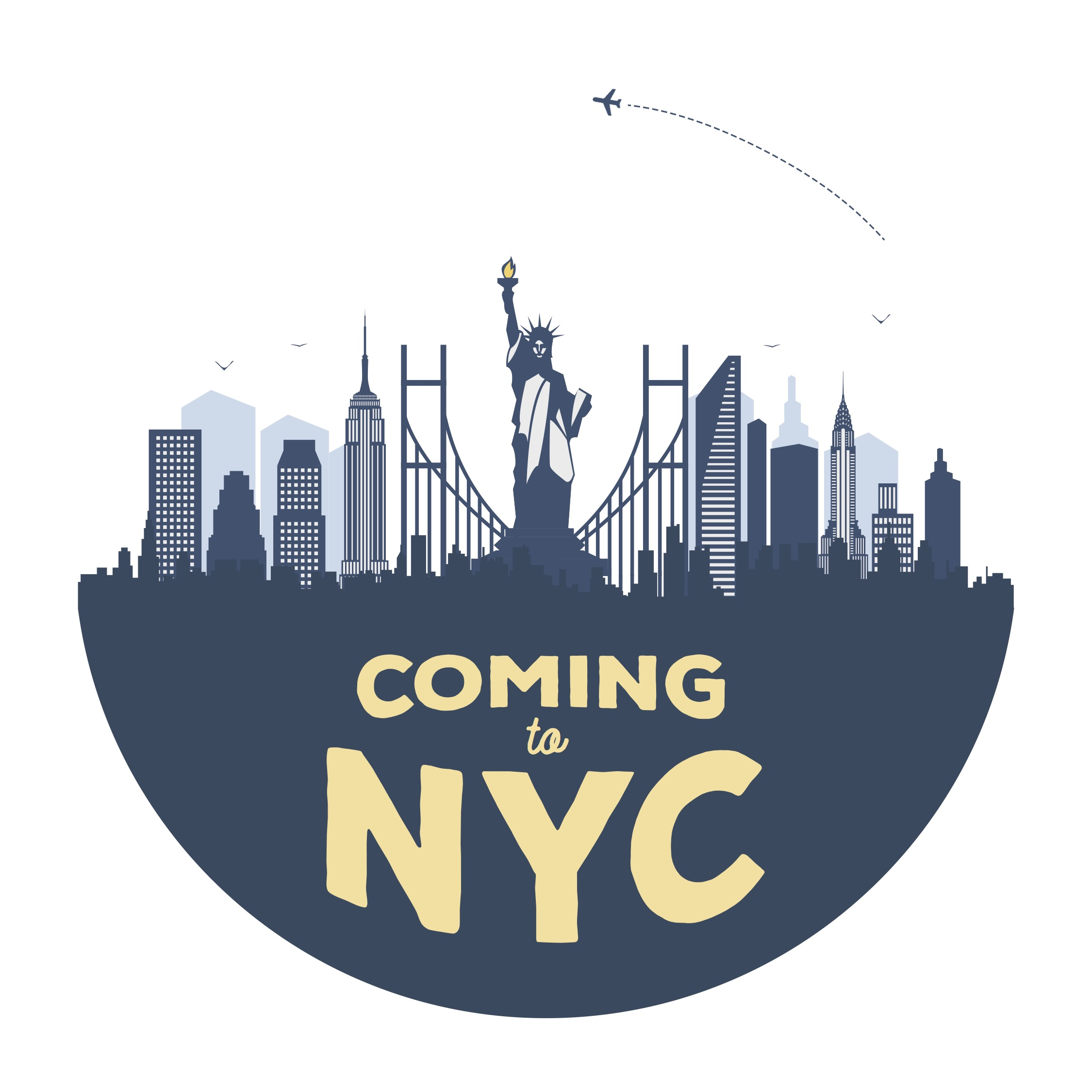 Coming to New York City Podcast show art