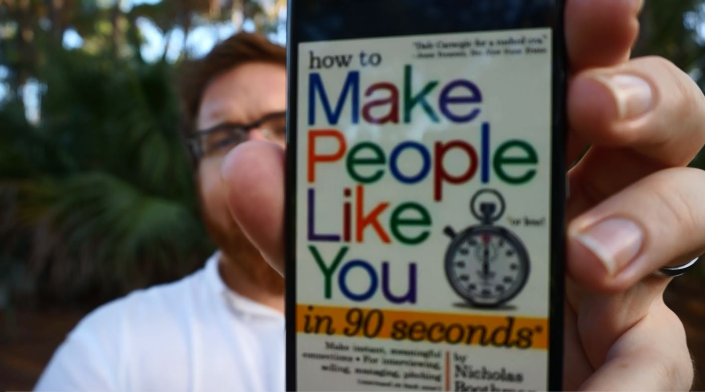 Short Book Review: How To Make People Like You In 90 Seconds Or Less by Nicholas Boothman