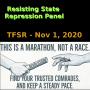 Artwork for Resisting State Repression Panel