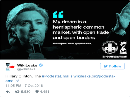 "Soft Porn Tape Trumps Wikileaks Truths: Hillary's ""Private"" Lies Prevail"