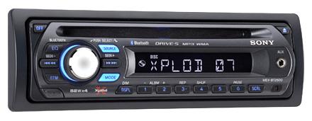 El radio Bluetooth para autos MEX-BT2500 de Sony se conecta a todo