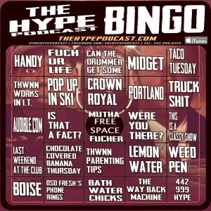 The Hype Podcast Bingo