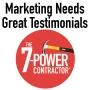 Artwork for Marketing Needs Great Testimonials