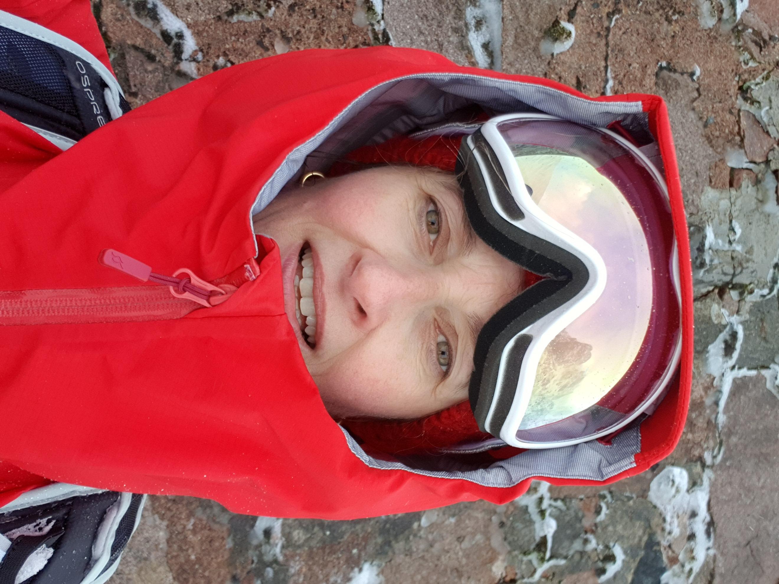 Kate Mackay - snowboarding mummy