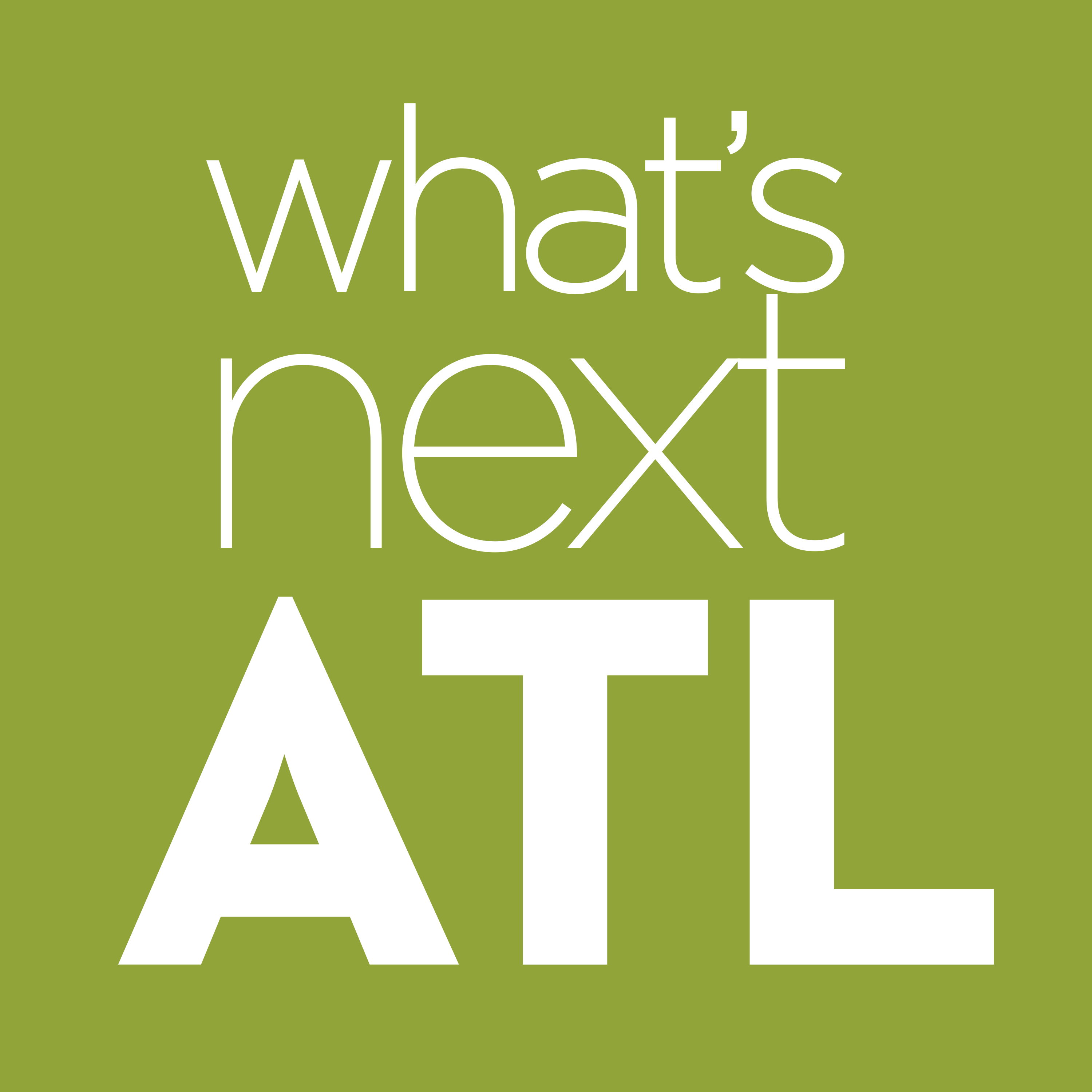What's Next ATL Podcast show art