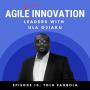 Artwork for S1E010: Tolu Fagbola on Applying Agile Effectively for Organisational Change