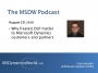 Artwork for MSDW Podcast: Why free(er) DLP matter to Microsoft Dynamics customers and partners